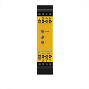 Basic unit for emergency stop and guard door applications